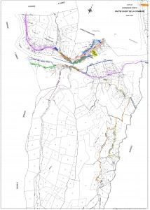 Le plan de l'ouest de la commune