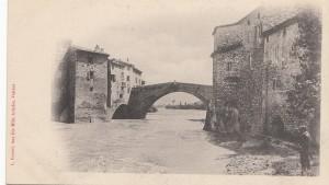 pont sur l'aygues avec pecheur