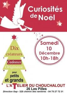 Affiche Marché Noël 2015 verticale rose